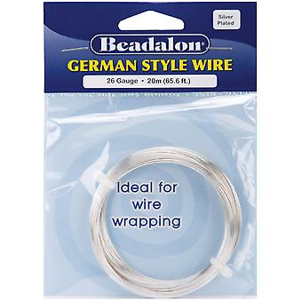 German Style Round Wire 26 Gauge 65.5 Feet Pkg Silver 180B 026