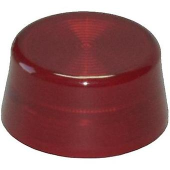 Dome knurled (Ø x H) 29.8 mm x 14.5 mm Blank Red Idec YW-serie 1 pc(s)