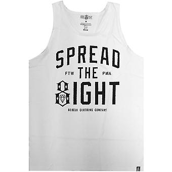 Rebel8 Spread The Eight Tank Top White
