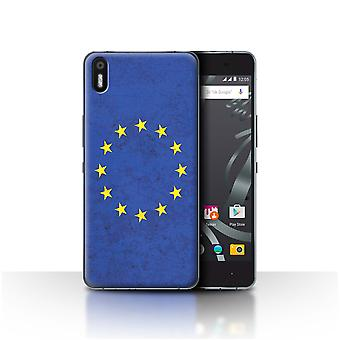 STUFF4 Custodia/Cover per BQ Aquaris X 5/Unione europea/Unione europea/European Flag