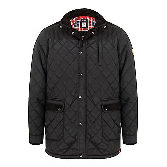 D555 Black Quilted Jacket