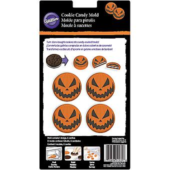 Cookie Candy Mold-6 Cavity Jack O'lantern W3813
