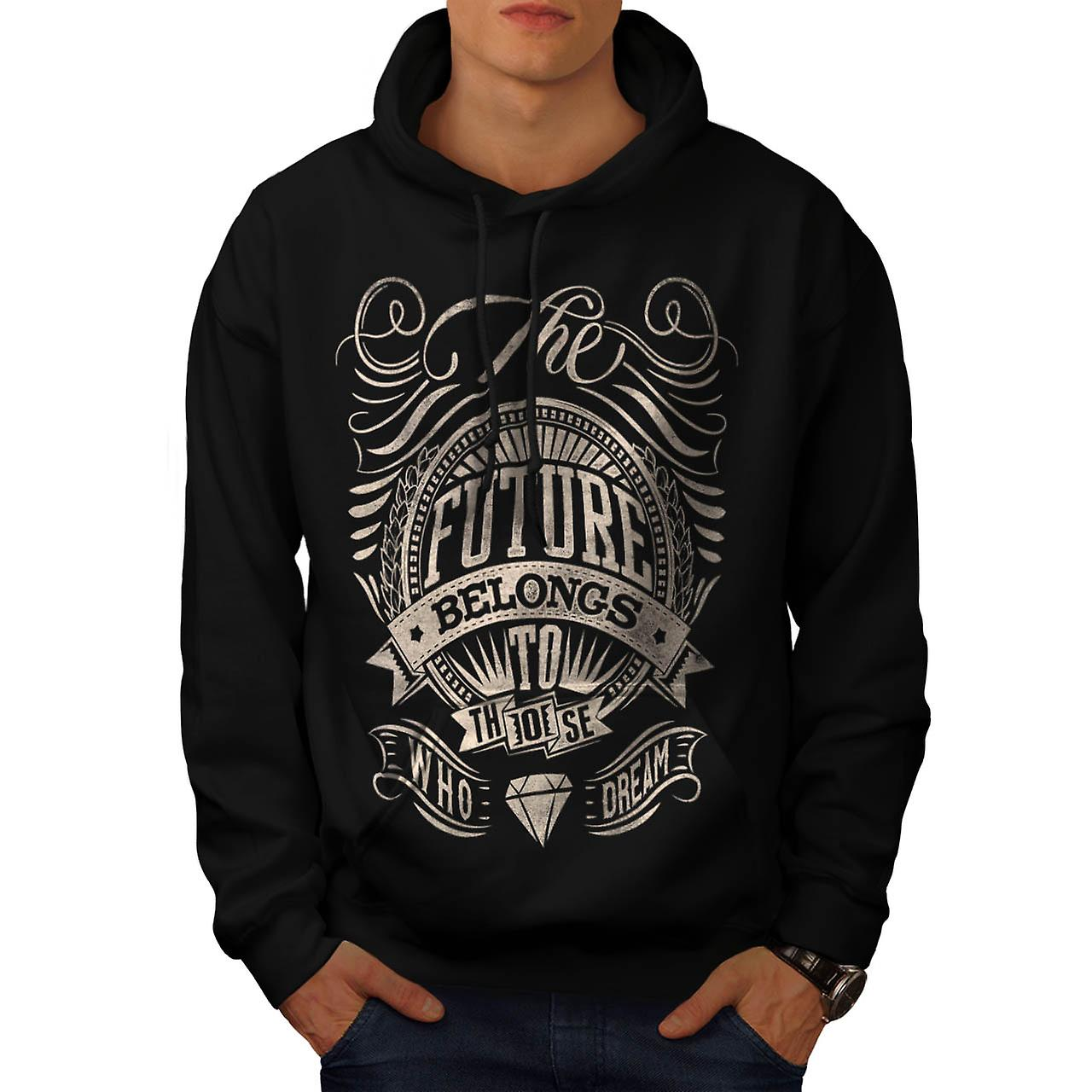 Future For Dream USA About Life Men Black Hoodie | Wellcoda