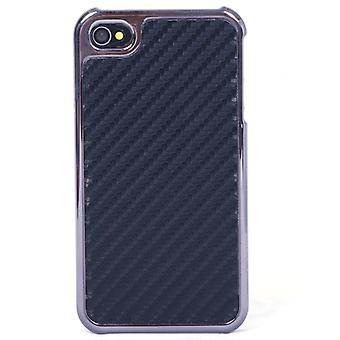 Hard cover with chrome and carbon fiber (black)-iPhone 4/4S
