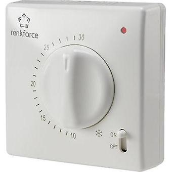Room thermostat Surface-mount 24 h mode 5 up to 30 °C renkforce TR-93