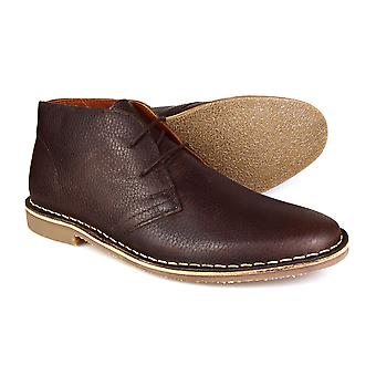 Cinta de red Gobi cuero Formal desierto Botas Chocolate marrón masculino
