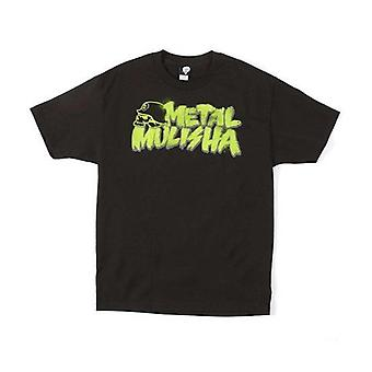 Metal Mulisha Mens Tshirt Tee Top Black Brush Green Graffiti Logo