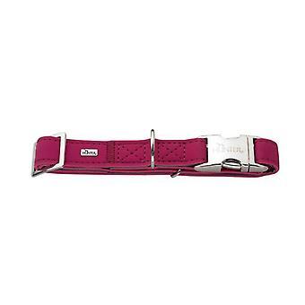 Hunter Softie Alu-strong Nubuck Leather Collar Raspberry 25mm X 40-55cm