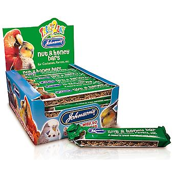 Jvp Treat2eat Cockatiel/parrot Nut & Honey Bar 50g (Pack of 24)