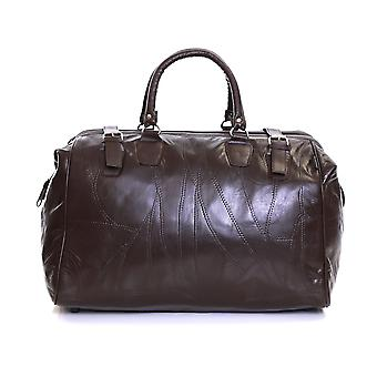 Slimbridge Malaga Leather Travel Bag, Brown