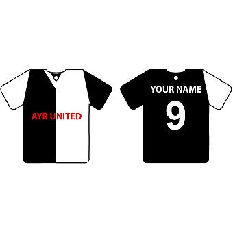 Gepersonaliseerde Ayr United Football Shirt auto luchtverfrisser