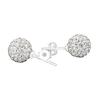 Iced out bling earrings - CLEAR CRYSTAL