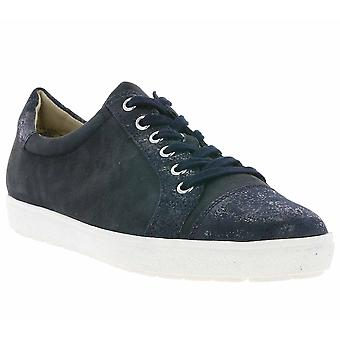 CAPRICE breath shoes ladies leather shoes Blue 9-23651-28 880