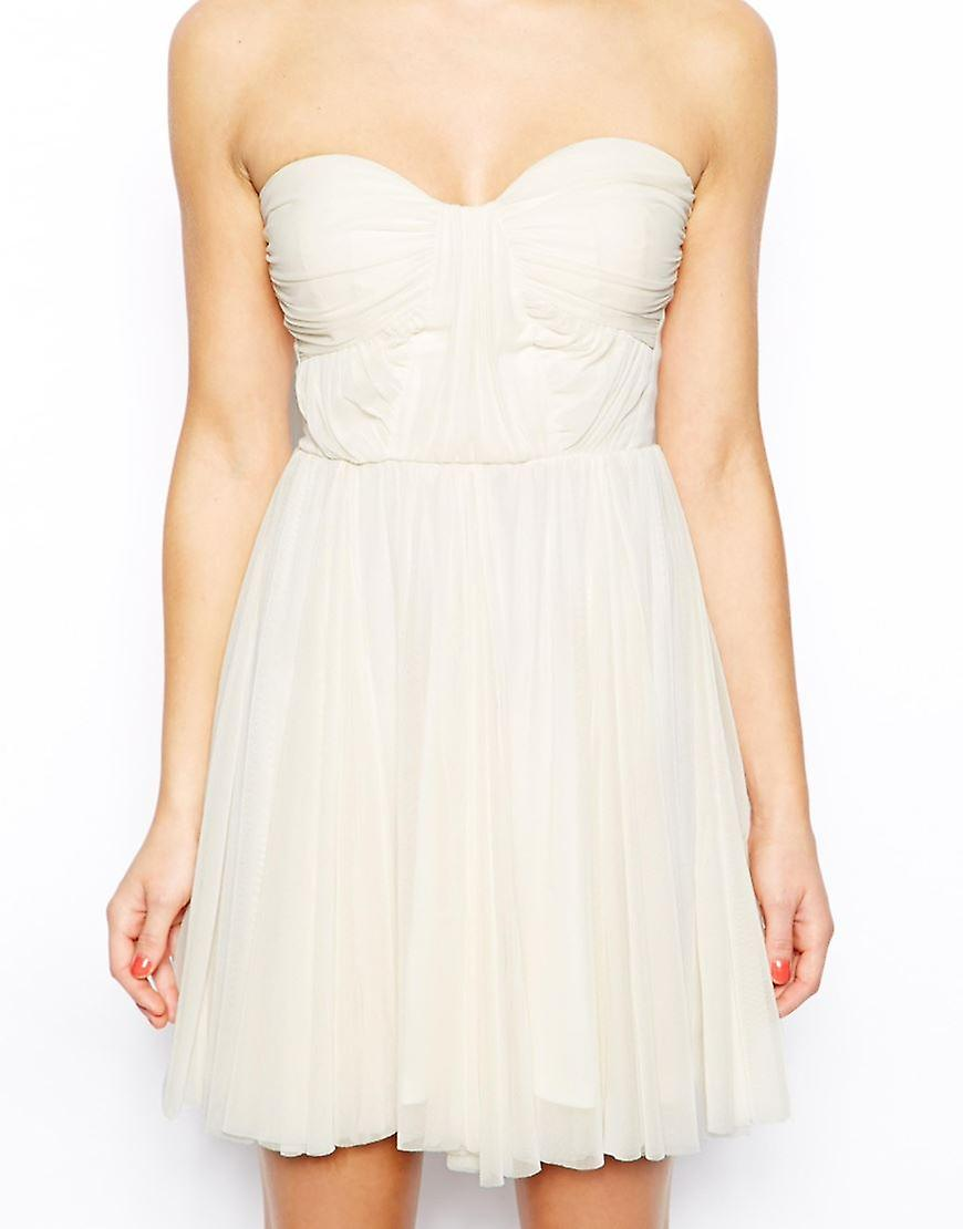 ASOS PETITE Bandeau Dress With Twisted Bodice UK SIZE 8