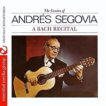 Andrts Segovia - A Bach Recital [CD] USA import