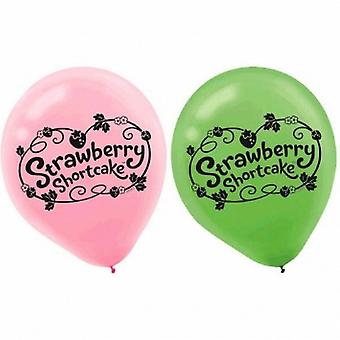 Strawberry Shortcake Party Balloons [6 per Pack]