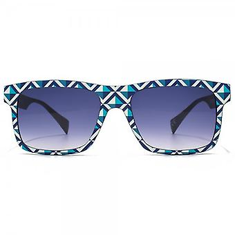 EYEYE By Italia Independent Square Sunglasses In Blue White Print