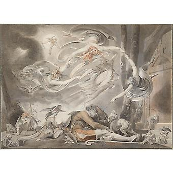 Henry Fuseli - The Shepherd's Dream 1786 Poster Print Giclee