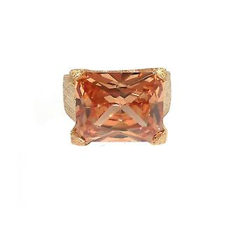 W.A.T Gold Plated Sterling Silver Topaz CZ Dress Ring