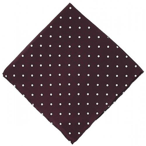 Michelsons of London Polka Dot Silk Handkerchief - Burgundy
