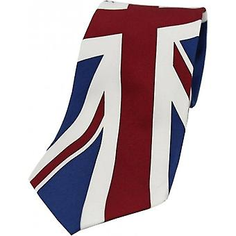 David Van Hagen Union Jack Silk Tie - Blue/Red/White