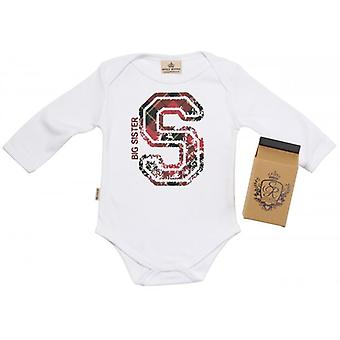 Spoilt Rotten S For Big Sister Baby Grow 100% Organic In Milk Carton