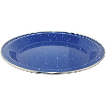 Yellowstone El 24cm Deep Plate Blue with Mottled Effect