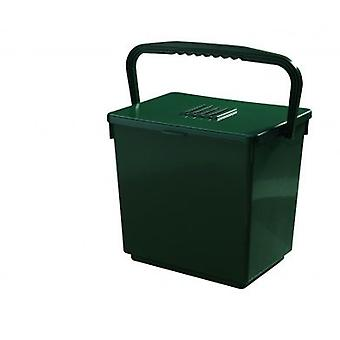 30 L Jumbo Odour Free Compost Caddy Bucket Waste Handle Pastic Green