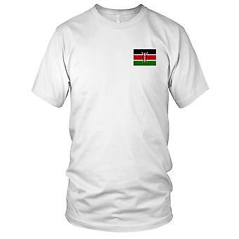 Kenia Land Nationalflagge - Stickerei Logo - 100 % Baumwolle T-Shirt Kinder T Shirt