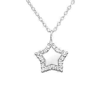 Star - 925 Sterling Silver Jewelled Necklaces - W32083x