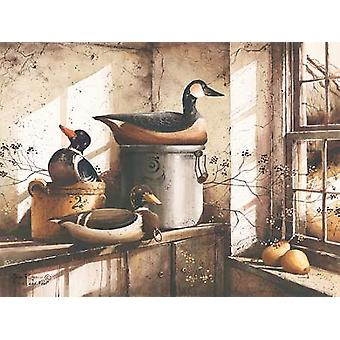 Crocks And Fowl Poster Print by John Rossini (16 x 12)