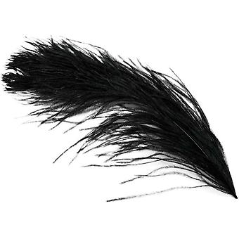 Ostrich Plume Feathers 1 Pkg Black Md38166