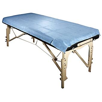 Royal Massage Set of 10 Universal Disposable Waterproof Flat Table Sheets - Blue