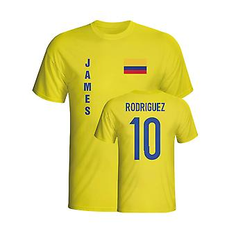 James Rodriguez Kolumbien-Flaggen-T-Shirt (gelb) - Kids