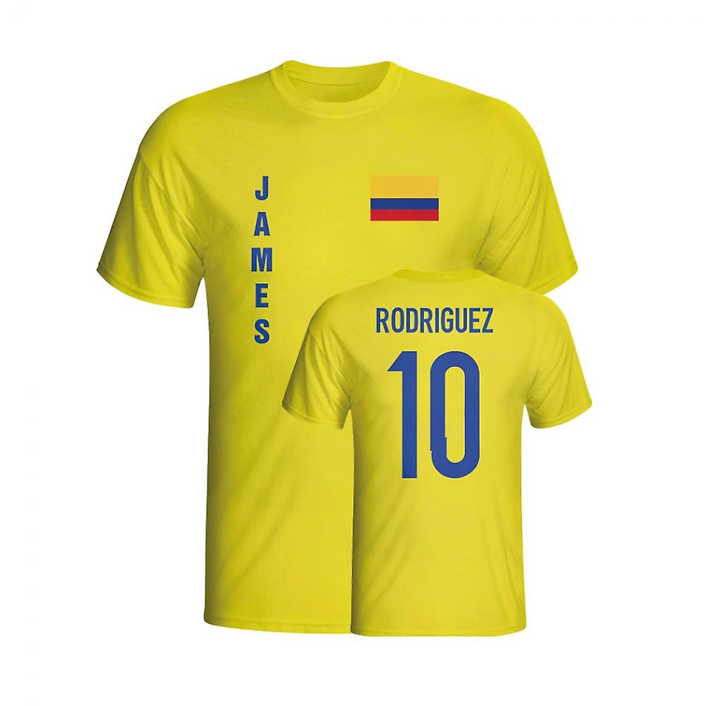 James Rodriguez Colombia flagg T-shirt (gul)