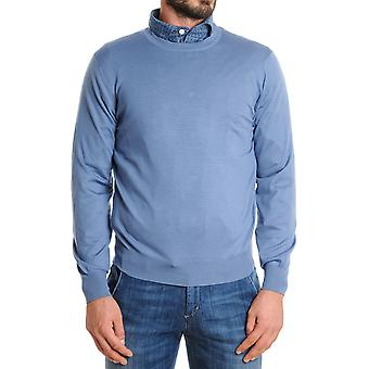 Brunello Cucinelli mens M2400100CD884 light blue wool sweater