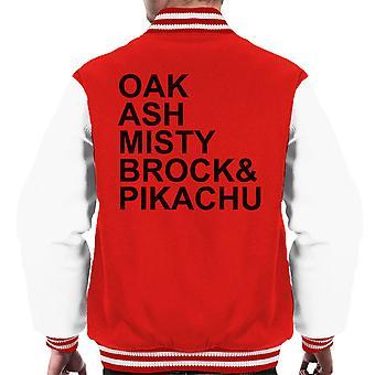 Pokemon Human Character List Men's Varsity Jacket
