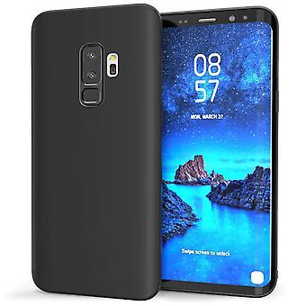 Samsung Galaxy S9 Plus Matte TPU Gel Case - Solid svart