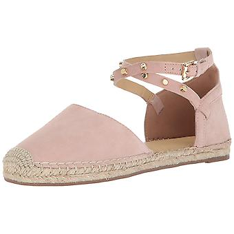 Marc Fisher Womens Maci Leather Closed Toe Ankle Strap Espadrille Flats