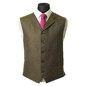 Gibson London Windowpane Check Waistcoat