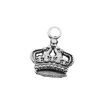 Packet 10 x Antique Silver Tibetan 17mm Crown Charm/Pendant ZX03475