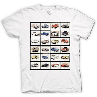 Mens T-shirt - Oldtimer Motor Collage - Poster