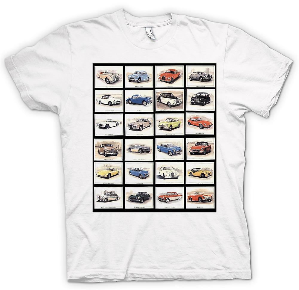 Mens T-shirt - Oldtimer Motor Collage - Poster
