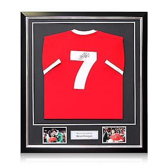 Kevin Keegan Signed Liverpool 1973 Number Seven Football Shirt In Deluxe Frame