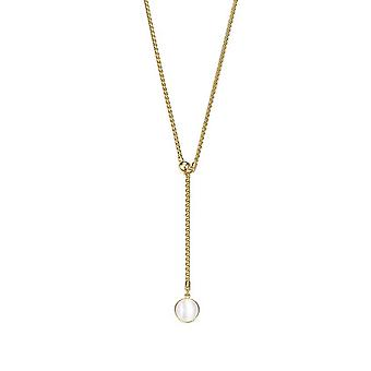 Joop women's chain necklace stainless steel gold Pearl JPNL00007B450