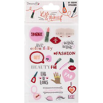 Dovecraft Kiss & Make Up Clear Stickers-Clear