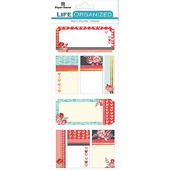 Paper House Life Organized Label Stickers-Everyday Moments