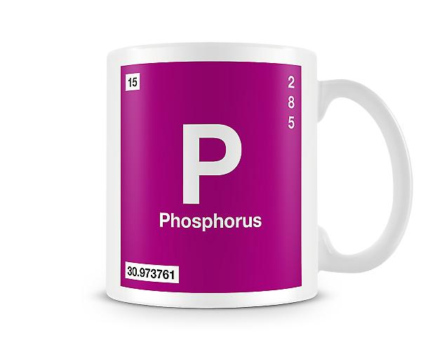 Element Symbol 015 P - Phosphorus Printed Mug