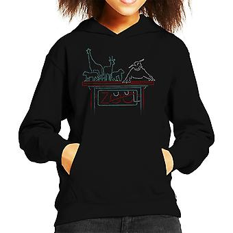 Ghostbusters Zuul At The Zoo Kid's Hooded Sweatshirt