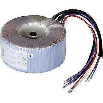 Toroidal core transformer 2 x 115 V 2 x 9 V AC 200 VA 11.12 A 825037 Sedlbauer